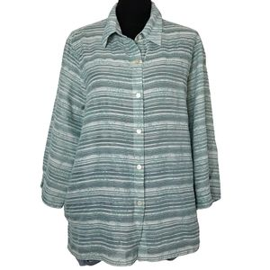 Alfred Dunner plus size 18 button down blouse